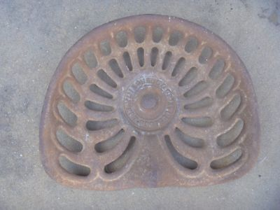 Original  Mitchell West Footscray Cast Iron Tractor Implement Seat