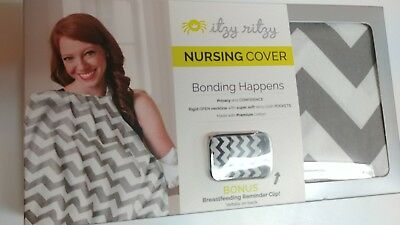 Itzy ritzy Nursing Cover with Bonus Reminder Clip-NEW