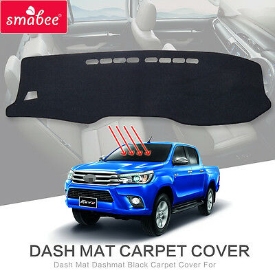 Dash Mat Dashmat Black Carpet Cover For Toyota Hilux SR5 4x4 REVO 2015-2017