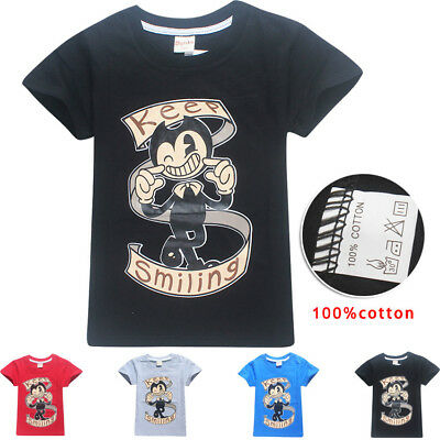 bendy and ink machine Kids T-shirts Tops Shirts Costume tshirts 100% cotton