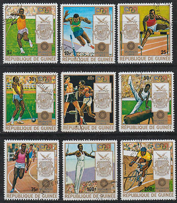 Guinea Guinée 1972 used Mi.640/48 A Olympische Spiele Olympic Games [st3383]