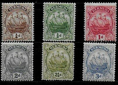Bermuda 1910 & 1922 KGV Definitives - Badge of Colony - SS - MH