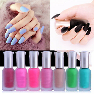 40 Colors Manicure Lasting Candy Frosted Matte Satin Nail Art Polish Enamel WOW