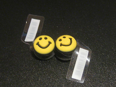 Yellow Smile Faces Shoe Charms for Crocs - Lot of 2