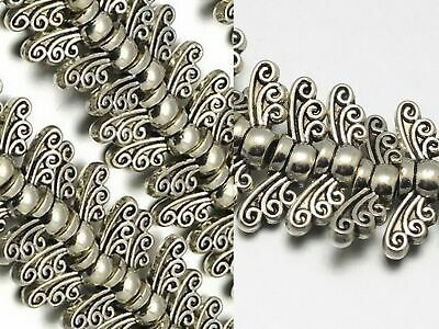 14mm Angel Wing Beads Silver Butterfly Fairy Dragonfly Jewelry Findings Supplies