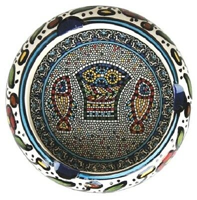 "Fish Ashtray. Armenian Ceramic, Made in Israel, Jerusalem,  5.5"" / 14 cm"