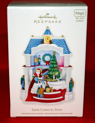 Hallmark Ornament 2011 Santa Comes To Town  Magic Light And Sound And Motion