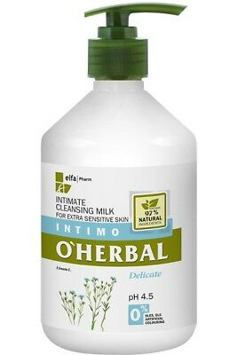 Intimate Cleansing Milk Delicate for Extra Sensitive Skin 500 ml O'Herbal