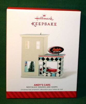 Hallmark  2017  Andy's Cars  #31  In Series  Nostalgic Houses And Shops Series