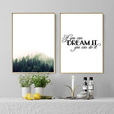 Nordic English Inspirational Quotes Print Art Canvas Wall Painting Unframed