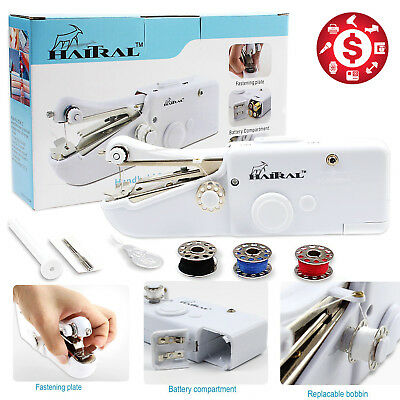 Handy Held Sewing Machine Cordless Quick Repair Singer Portable Stitch Sew Hand