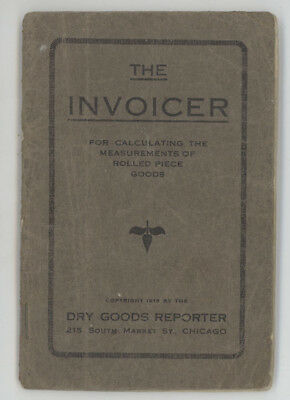 Vtg 1918 Piece,dry Goods Reporter Magazine,the Invoicer Rolled Calculator Book
