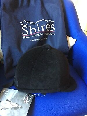New Shires Velveteen Riding Hat Helmet showjumping horse riding equestrian- Tags