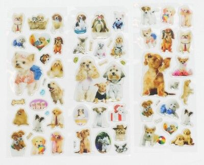 5 10 50 x Childrens REAL DOGS Arts Craft Party Bag Fill Stickers Sticker Sheets