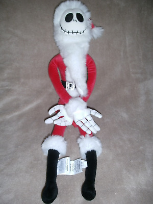 Disney Store Nightmare Before Christmas Jack Skellington Sandy Claws Soft Toy