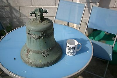 Highly decorated bronze church / school bell Flemish Whitechapel Bell Foundry