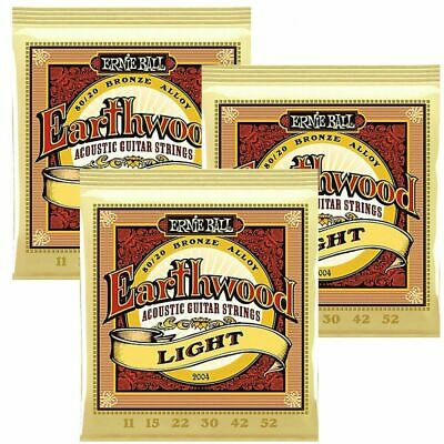 3 sets Ernie Ball 2004  80/20 Bronze  Light Acoustic Guitar Strings 11 - 52