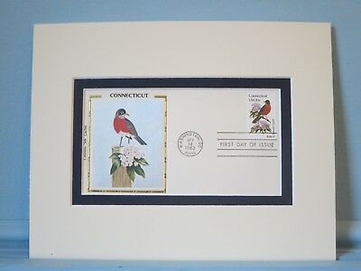 State Bird & Flower - Connecticut - Robin & Mountain Laurel & First Day Cover