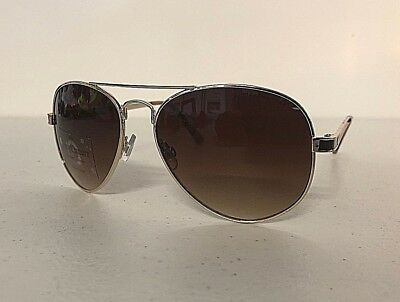 fda1196a4f NWT Juicy Couture Womens  Aviator Sunglasses Pilot Eyewear Gold Brown Frame