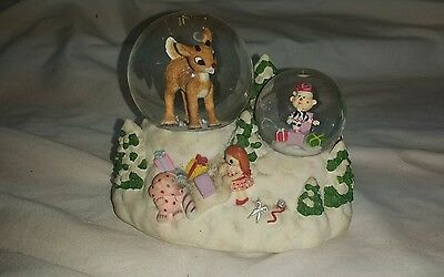 Rudolph the red nosed reindeer musical Enesco snow globe 2000