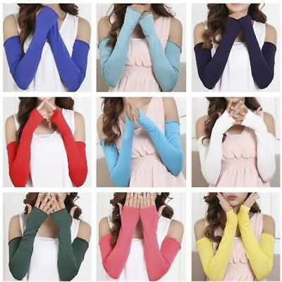 Candy 20 Women Colors Cotton Sale Sunscreen Cosy Arm Fingerless Long Gloves