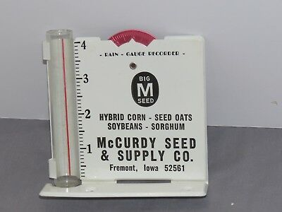 Vintage BIG M Seed Company Hybrid Corn Rain Gauge Sign advertising NICE!