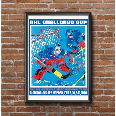 NHL Challenge Cup 1979 Hockey Poster - NHL All Stars VS USSR National Team