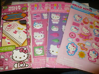 NEW ~ HELLO KITTY Roomscapes & Stickers (3 pkgs.) ~ Puffy & Embellished