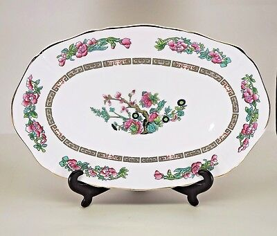 Royal Grafton Indian Tree 11 inch Oval Serving Platter  Bone China EUC