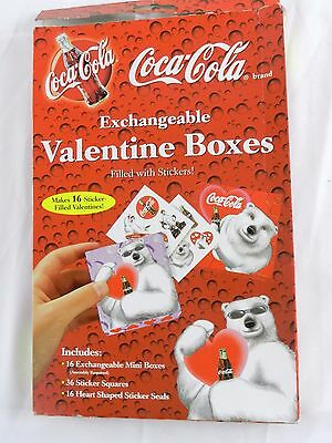 Exchangeable Coca Cola Valentine Boxes Stickers New Vintage N Box Polar Bear