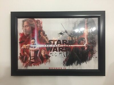 "Star Wars The Last Jedi original movie poster Fandango Exclusive 17"" by 11"""