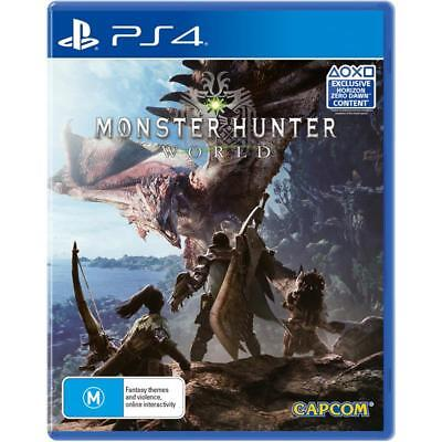 CAPCOM Monster Hunter World SONY PlayStation 4 PS4 GAME BRAND NEW FREE POSTAGE
