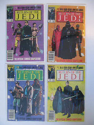 Vintage Return of the Jedi comic set - all 4 issues
