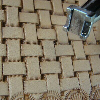 Leather Stamping Tool - #X517 Basket Weave Stamp
