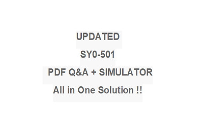 CompTIA Security+ PLUS  Test SY0-501 EXAM QA PDF&Simulator