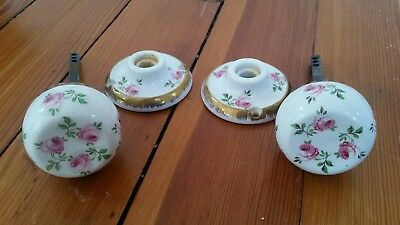 2 Beautiful Vintage Shabby French Cottage Chic Porcelain Doorknobs/Door Knobs