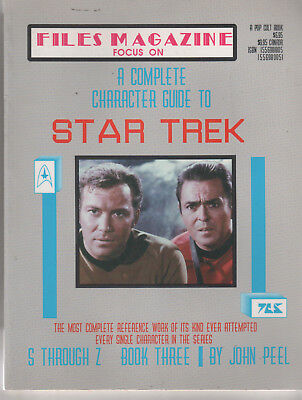 Star Trek Files Magazine NEW Complete Character Guide Book 3 Focus On S - Z