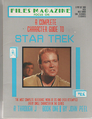 Star Trek Files Magazine NEW Complete Character Guide Book 1 Focus On A - J