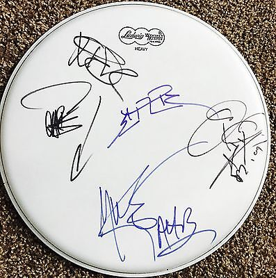 All American Rejects Signed Drumhead Tyson Ritter Autographed +4