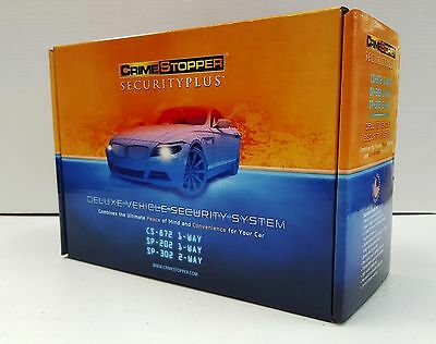 Crimestopper SP-302 2-Way 5-Button Deluxe Vehicle Security Car Alarm System