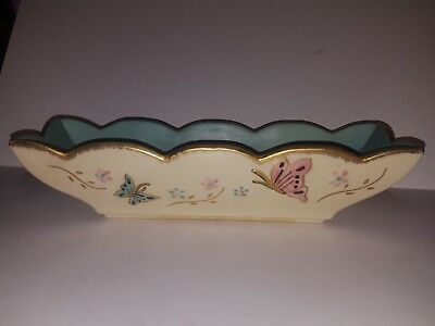 ***vintage early art Hull art pottery butterfly B8 window box planter antique