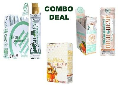 "High Hemp Organic Wrap COMBO DEAL - ""HONEYPOT SWIRL, MAUI MANGO & ORIGINAL"""
