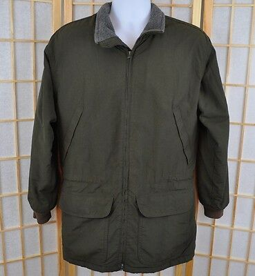 Men's J. CREW  Hunter Green Jacket Fleece Lined with Thinsulate size XS