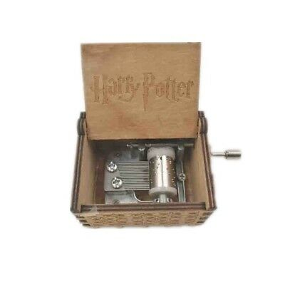 Harry Potter Music Box Engraved Wooden Music Box Crafts Harry Potter New Gift