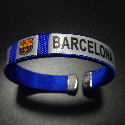 FC Barcelona Bracelet Wristband Wrist Band Soccer Club Run Sport Adjustable