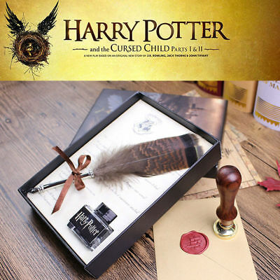 Harry Potter The Cursed Child Feather Quill Seal Wax Complete Set Diary Gift Box