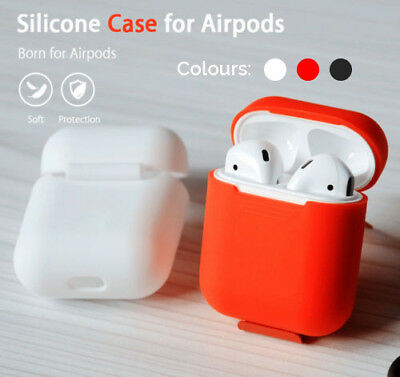 Shockproof Soft Silicone Protective Skin Case Cover For Apple AirPods Earphones