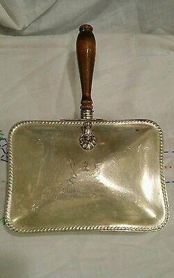 Vintage SILENT BUTLER Ashtray/Crumb Catcher F.B.Rogers silverplate