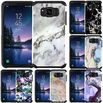 Marble Design Slim Hybrid Case Cover for Samsung Galaxy S8 Active (G892A)