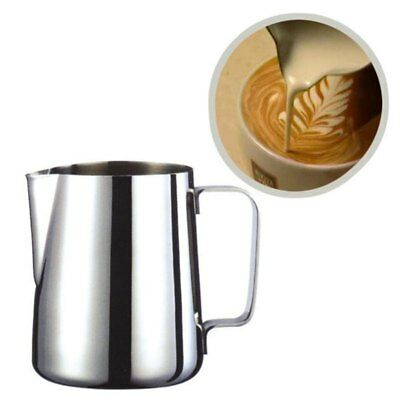 Stainless Steel Kitchen Coffee Pitcher Mug Frothing Milk Latte Jug Foam Cup NEW